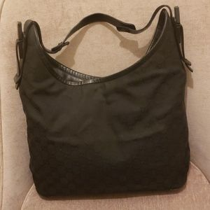 Gucci Bags - Gucci Canvas Purse with Bamboo on Handle